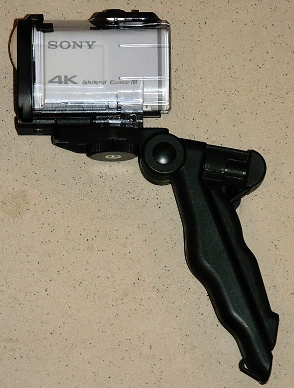 Action cam on tripod