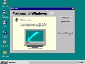 Start menu Windows NT