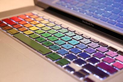 Rainbow Keyboard MacBook Decal