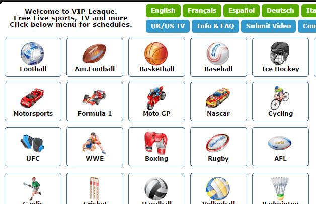 VIP League live stream
