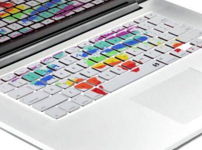 World Map Keyboard Decal