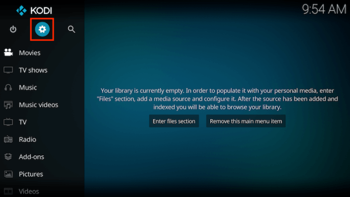 Enable Unknown Sources On Kodi 17 Step 1