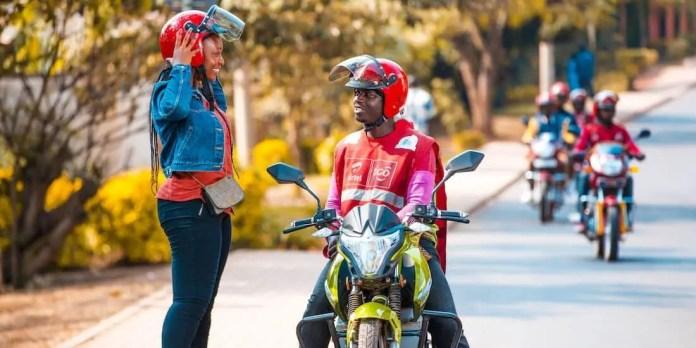 motorcycle public transport services in Rwanda.
