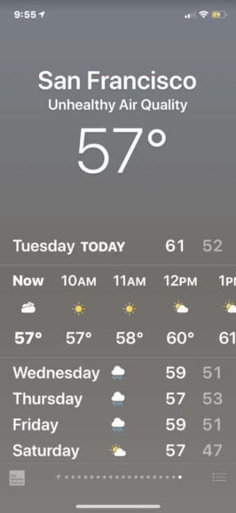 Get Air Quality Info on iPhone with Weather 2019: