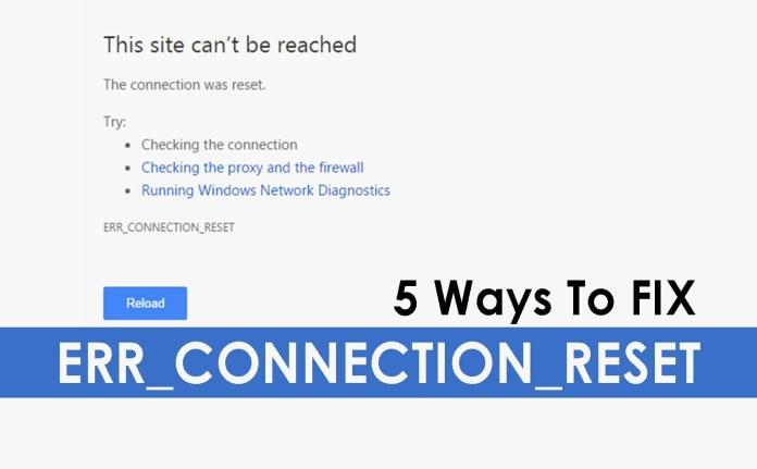 ERR_CONNECTION_RESET-Fix