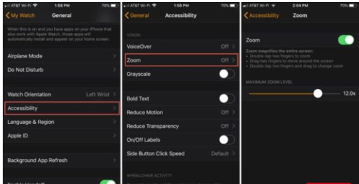Increase your Apple Watch screen size with Zoom Feature: