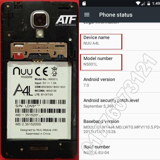 NUU A4L N5001L Flash File