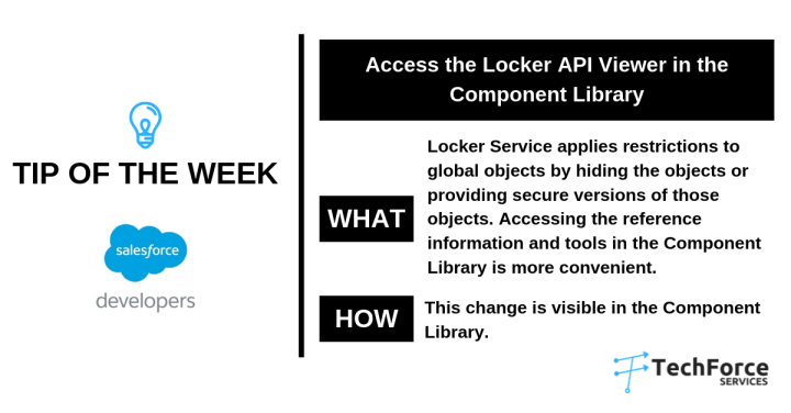 Salesforce weekly tips Component library