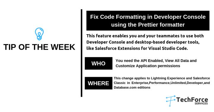Salesforce tips prettier formatter