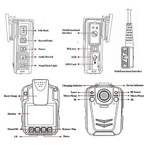 4G Police Body Worn Camera with GPS for Real Time Remote