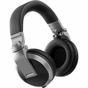 Pioneer HDJ-X5-S Professional DJ Headphones, Silver