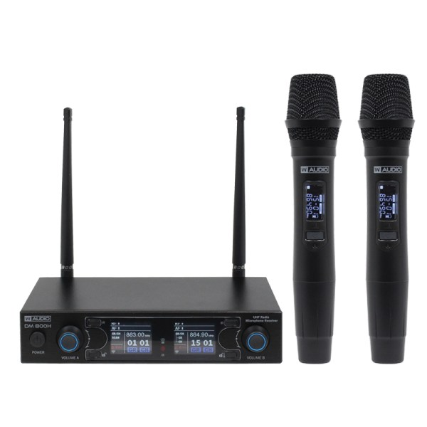 W Audio DM 800H Twin Handheld UHF System (863.0Mhz-865.0Mhz)