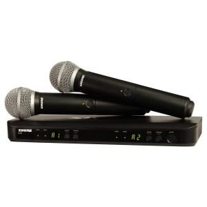 Shure BLX288UK/PG58-K3E Dual Handheld Wireless Microphone System