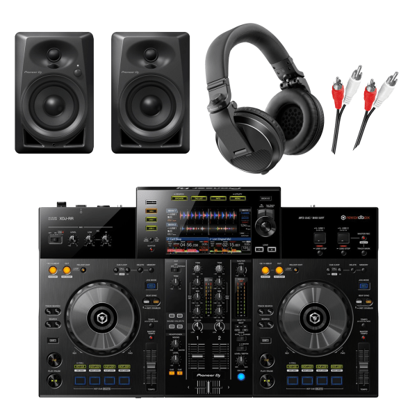 Pioneer XDJ-RR Package with DM-40 Monitors & HDJ-X5-K Headphones