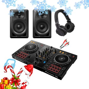 Pioneer DDJ-400 DJ Controller with DM-40 Monitors and HDJ-CUE1 Headphones