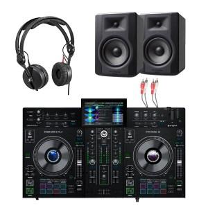 Denon DJ Prime 2 2-Deck Smart DJ Console & M-Audio BX5 Package