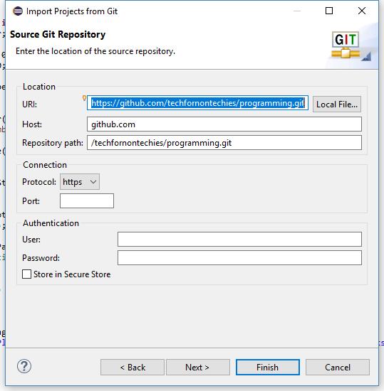 Import Git Project