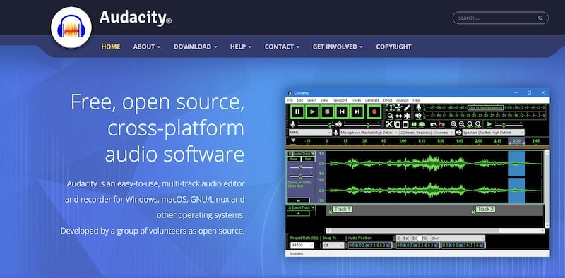 Best Podcast Software - Audacity