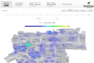 Heatmap creata da Ruckus SPoT