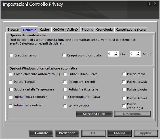 Controllo privacy