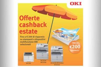 Le promozioni estive OKI, cashback fino a 200 Euro