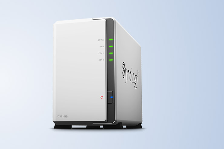 Synology DiskStation DS216j, NAS dual-bay per lo streaming