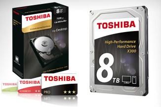 Toshiba X300, lo storage desktop da 8 TByte per carichi di lavoro impegnativi