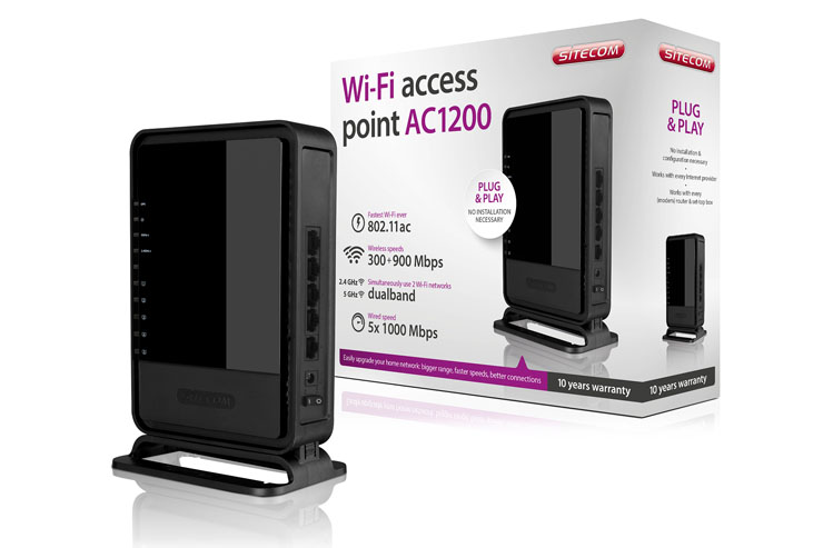 Sitecom WLX-7000, l'Access Point dual band con tecnologia AC 1200
