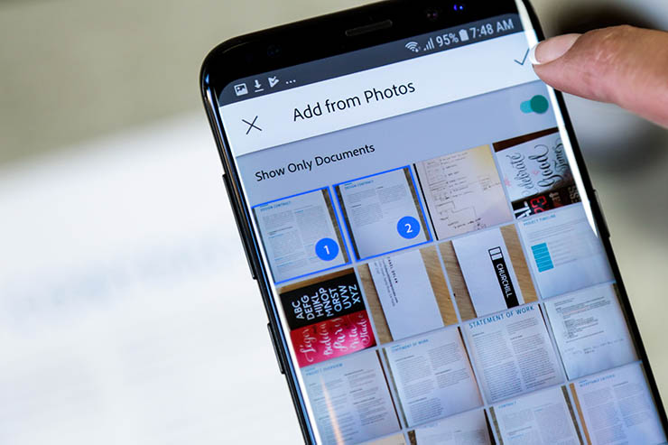 Adobe Scan, disponibili nuove funzionalità grazie all'AI Sensei