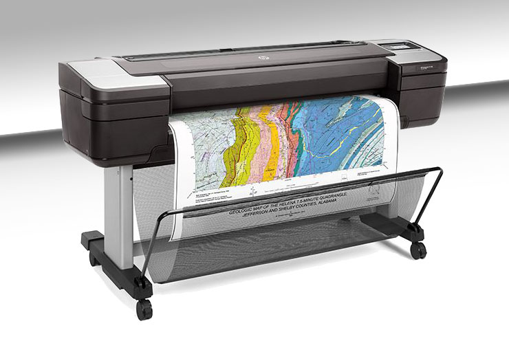 HP DesignJet T1700, stampanti CAD e GIS sicure