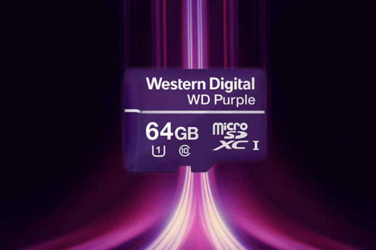 WD amplia l'offerta storage, arriva la Purple microSD card
