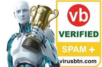 A marzo Eset ha ricevuto la certificazione VBSpam +