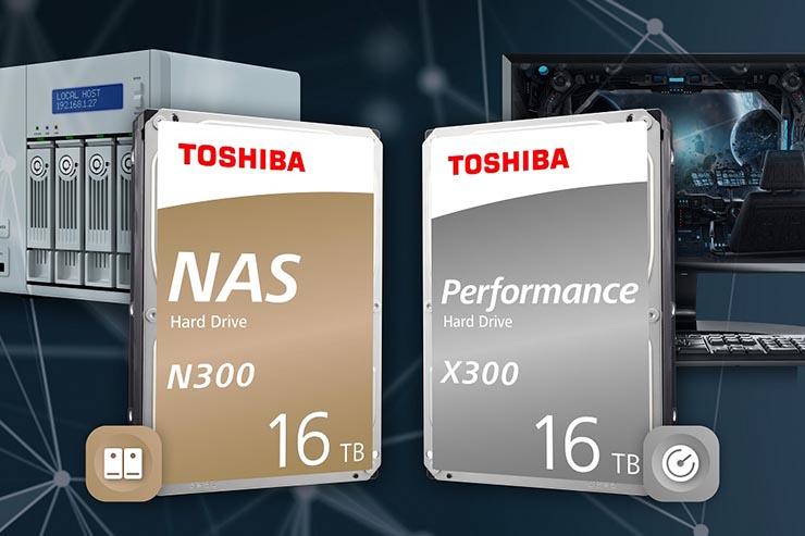 Toshiba N300 e X300, storage con capacità sino a 16 TByte
