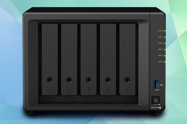 Synology DiskStation DS1019+, 5 bay per piccoli uffici