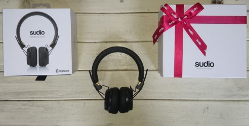 Sudio Regent headphones with box and gift wrap