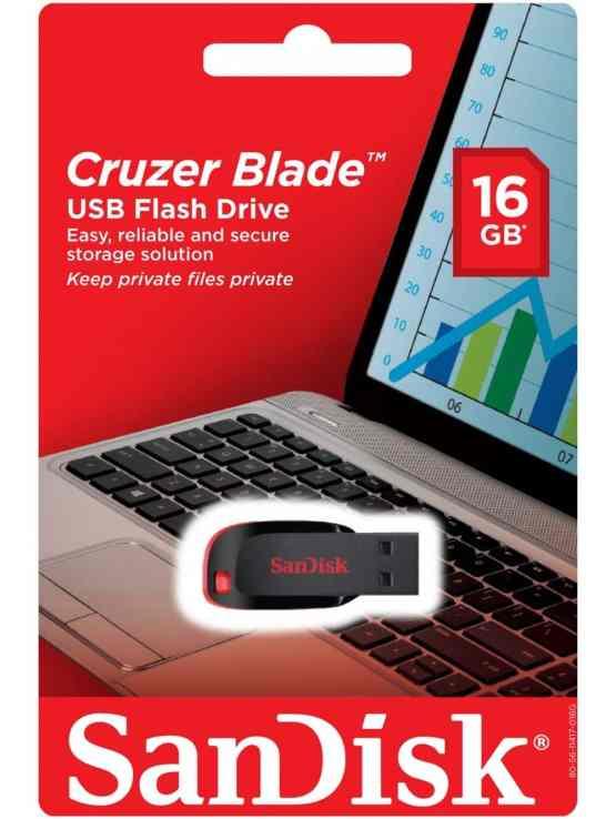 SanDisk USB 2.0 Cruzer Blade 16GB