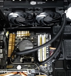 cooler master masterliquid pro 240mm all in one liquid cpu cooler review techgage [ 1600 x 985 Pixel ]