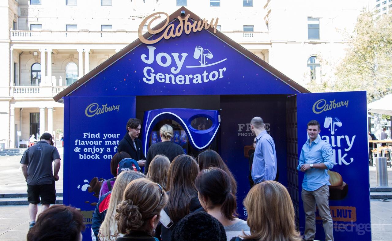 Cadburys Joy Generator We came for joy and all we got