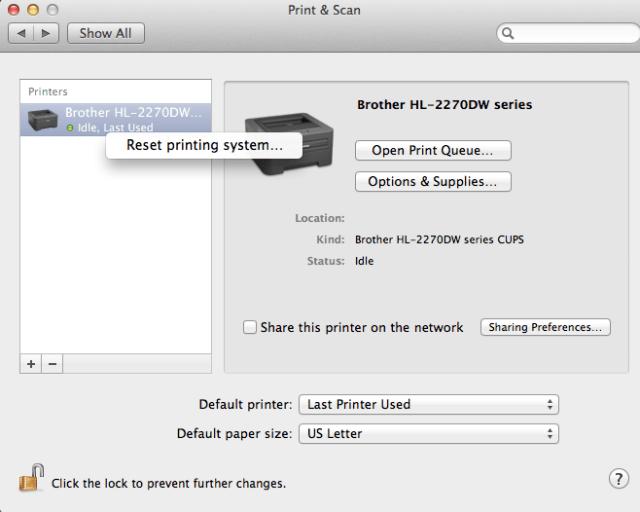 reset-printer-mac