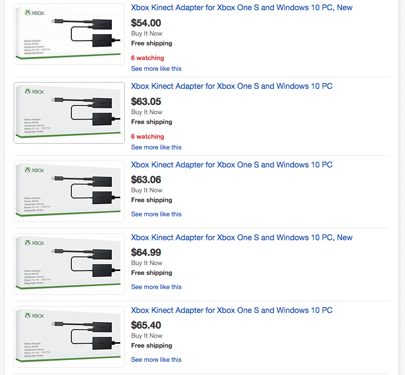 Kinect Adapter Ebay