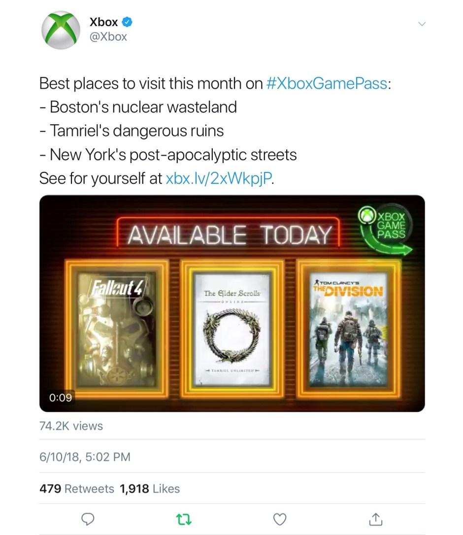Xbox Gamepass E3