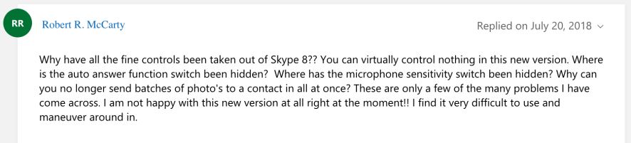 Skype user comment 2