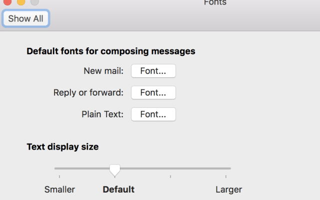 Mac Outlook Font Window