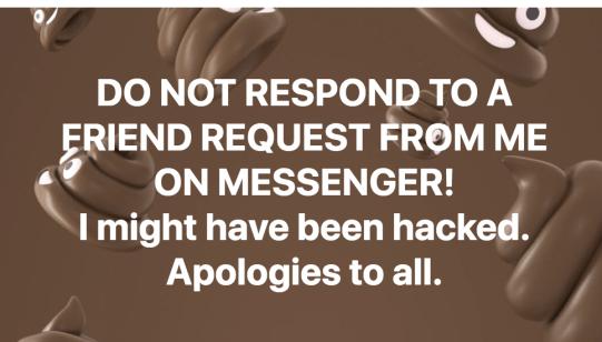 Friend Request Scam Message 2
