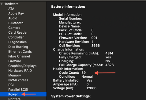 Mac Battery Cycle Count
