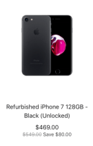 iPhone 7 refurb sale