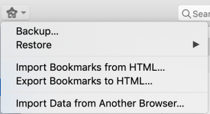 firefox bookmark import export