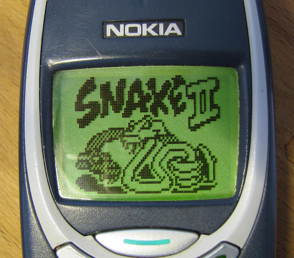 Nokia running Snake