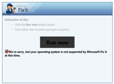 Mr. Fix it message