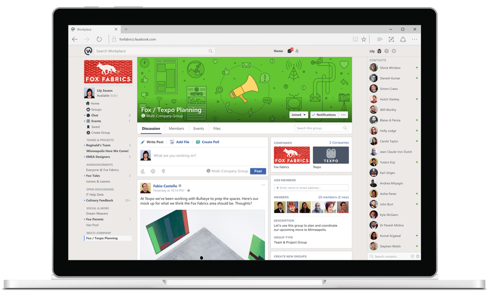 Workplace by Facebook on PC
